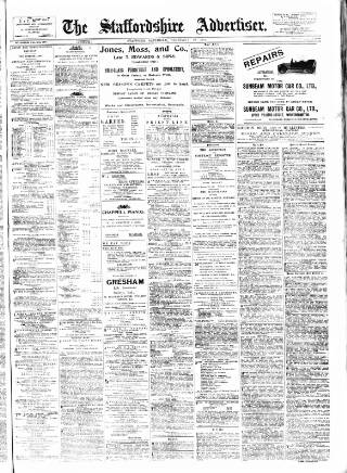 cover page of Staffordshire Advertiser published on February 19, 1910