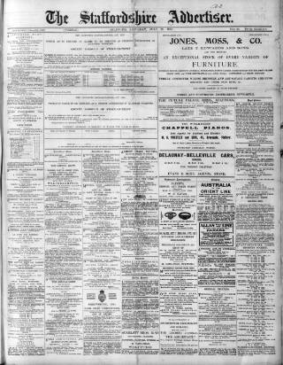 cover page of Staffordshire Advertiser published on July 19, 1913
