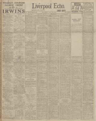 cover page of Liverpool Echo published on July 18, 1918