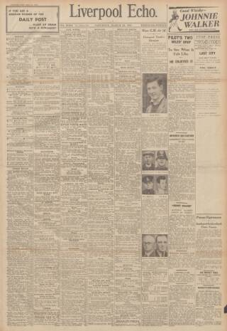 cover page of Liverpool Echo published on March 22, 1941