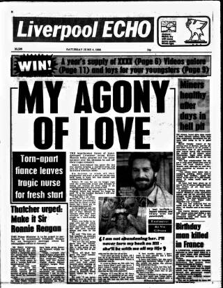 cover page of Liverpool Echo published on June 4, 1988