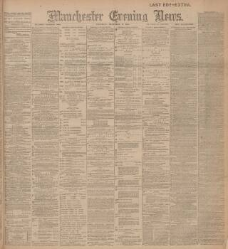 cover page of Manchester Evening News published on December 17, 1903