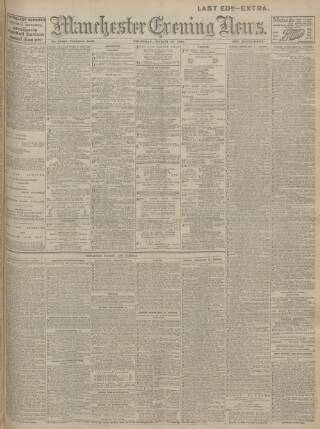 cover page of Manchester Evening News published on March 19, 1914