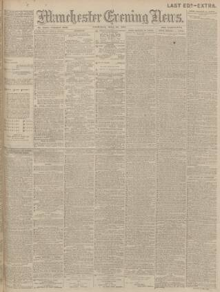 cover page of Manchester Evening News published on July 22, 1915