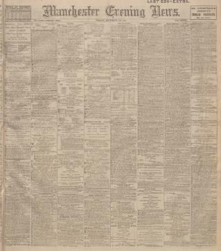 cover page of Manchester Evening News published on December 14, 1917