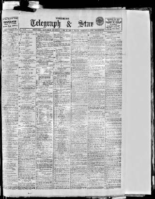 cover page of Sheffield Evening Telegraph published on June 21, 1913