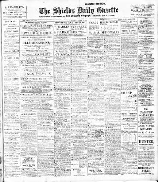cover page of Shields Daily Gazette published on June 1, 1911