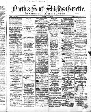 cover page of North & South Shields Gazette and Northumberland and Durham Advertiser published on May 26, 1859