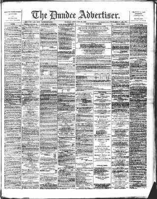 cover page of Dundee Advertiser published on February 19, 1889