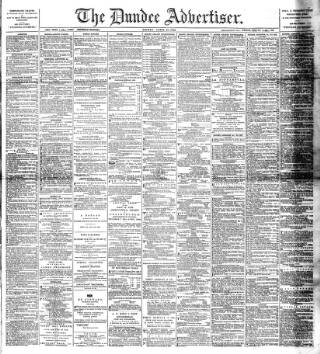 cover page of Dundee Advertiser published on April 18, 1890