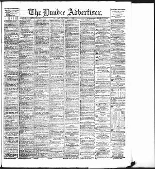 cover page of Dundee Advertiser published on September 23, 1893
