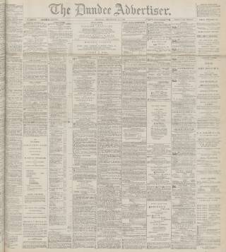 cover page of Dundee Advertiser published on December 11, 1899
