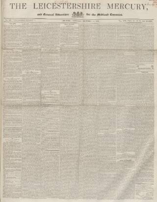 cover page of Leicestershire Mercury published on December 18, 1852