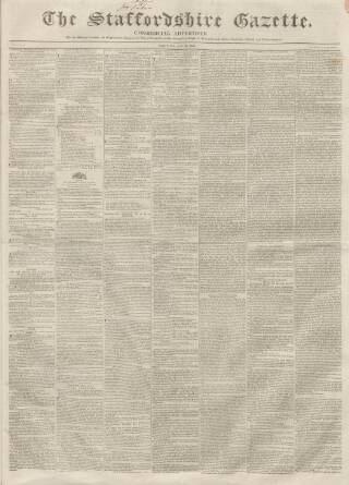 cover page of Staffordshire Gazette and County Standard published on May 16, 1840