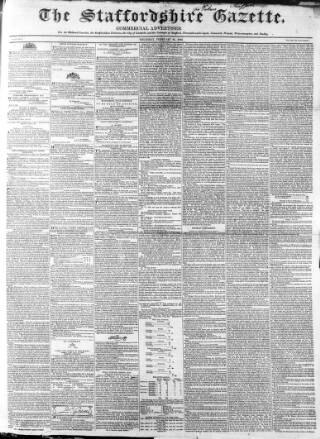 cover page of Staffordshire Gazette and County Standard published on February 24, 1842