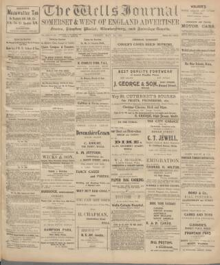 cover page of Wells Journal published on May 16, 1913