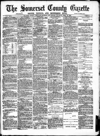 cover page of Somerset County Gazette published on April 28, 1883