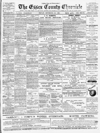 cover page of Chelmsford Chronicle published on September 18, 1891
