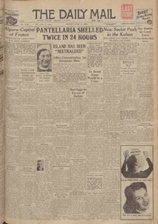 cover page of Hull Daily Mail published on June 4, 1943