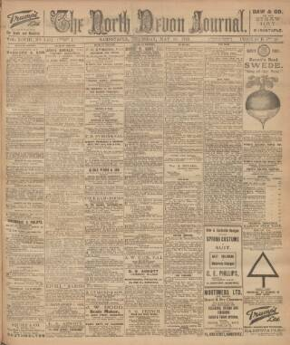 cover page of North Devon Journal published on May 18, 1922