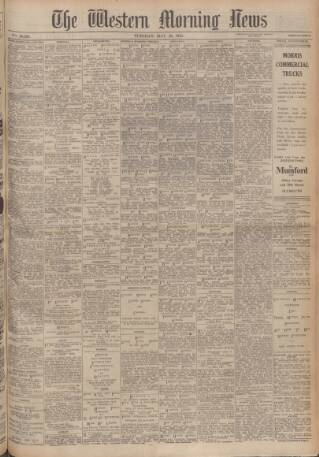 cover page of Western Morning News published on May 23, 1944