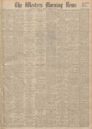 cover page of Western Morning News published on March 20, 1947