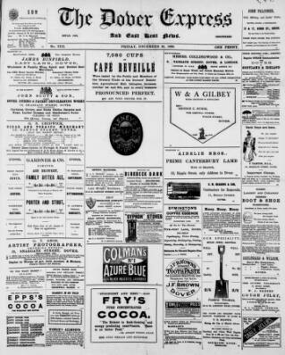 cover page of Dover Express published on December 16, 1898