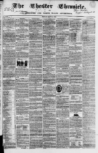 cover page of Chester Chronicle published on May 26, 1837