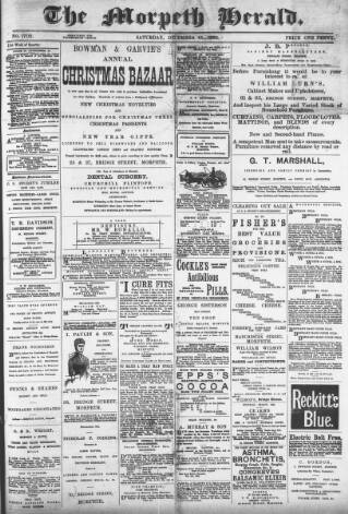 cover page of Morpeth Herald published on December 15, 1888