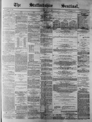 cover page of Staffordshire Sentinel and Commercial & General Advertiser published on May 15, 1880