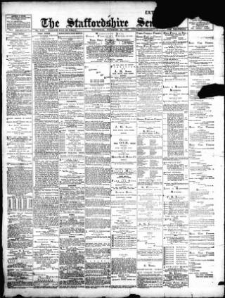 cover page of Staffordshire Sentinel published on November 24, 1897