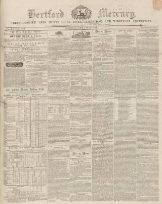 cover page of Hertford Mercury and Reformer published on February 23, 1850