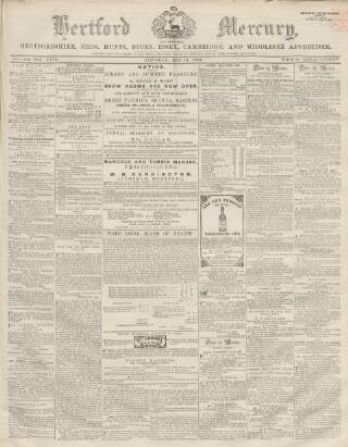 cover page of Hertford Mercury and Reformer published on May 16, 1863