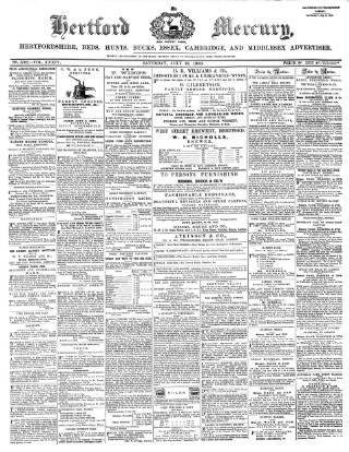 cover page of Hertford Mercury and Reformer published on July 18, 1868