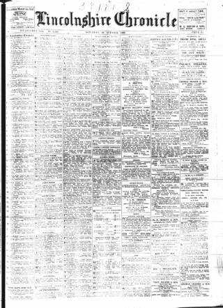 cover page of Lincolnshire Chronicle published on October 24, 1925