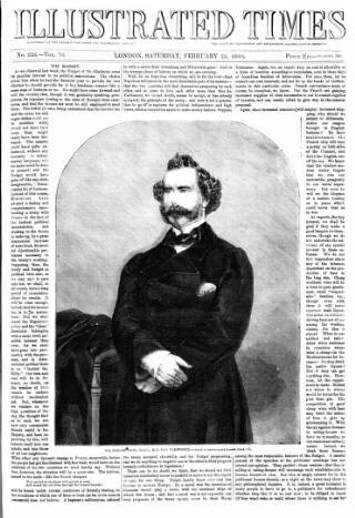 cover page of Illustrated Times published on February 25, 1860