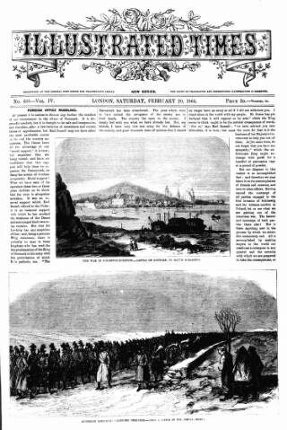 cover page of Illustrated Times published on February 20, 1864