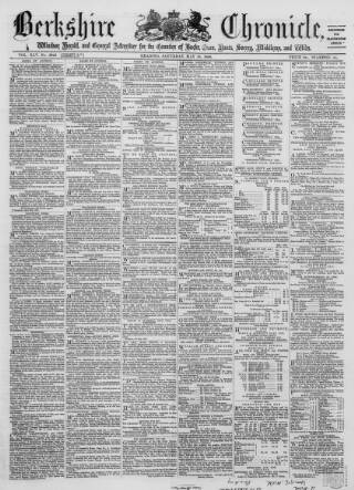 cover page of Berkshire Chronicle published on May 16, 1868