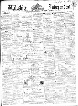 cover page of Wiltshire Independent published on December 15, 1864