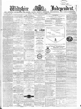 cover page of Wiltshire Independent published on October 17, 1867
