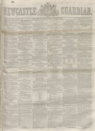 cover page of Newcastle Guardian and Tyne Mercury published on October 17, 1857