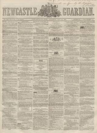 cover page of Newcastle Guardian and Tyne Mercury published on May 18, 1861
