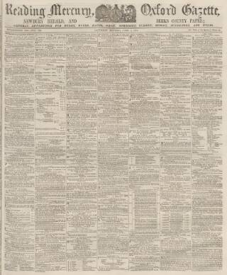 cover page of Reading Mercury published on June 1, 1872