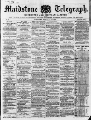 cover page of Maidstone Telegraph published on February 19, 1859