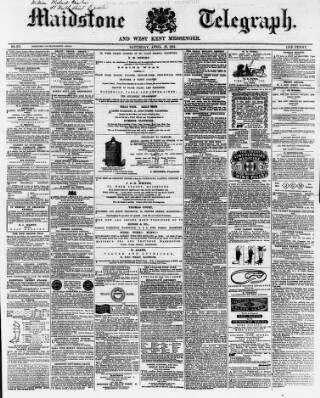 cover page of Maidstone Telegraph published on April 23, 1864