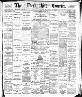 cover page of Derbyshire Courier published on May 16, 1885