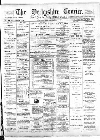 cover page of Derbyshire Courier published on December 15, 1888