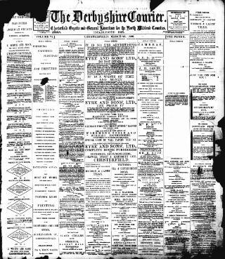 cover page of Derbyshire Courier published on March 22, 1898
