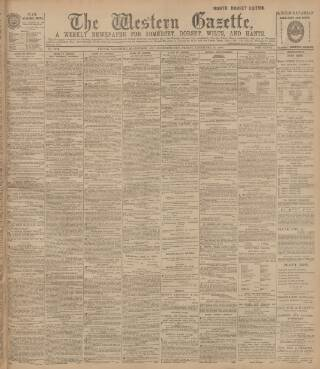 cover page of Western Gazette published on December 14, 1900