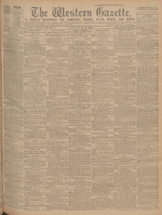 cover page of Western Gazette published on March 23, 1906